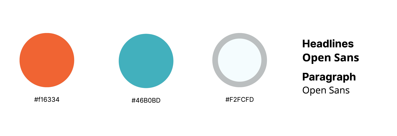 Palette e font del sito Rimborsi ad Alta Quota